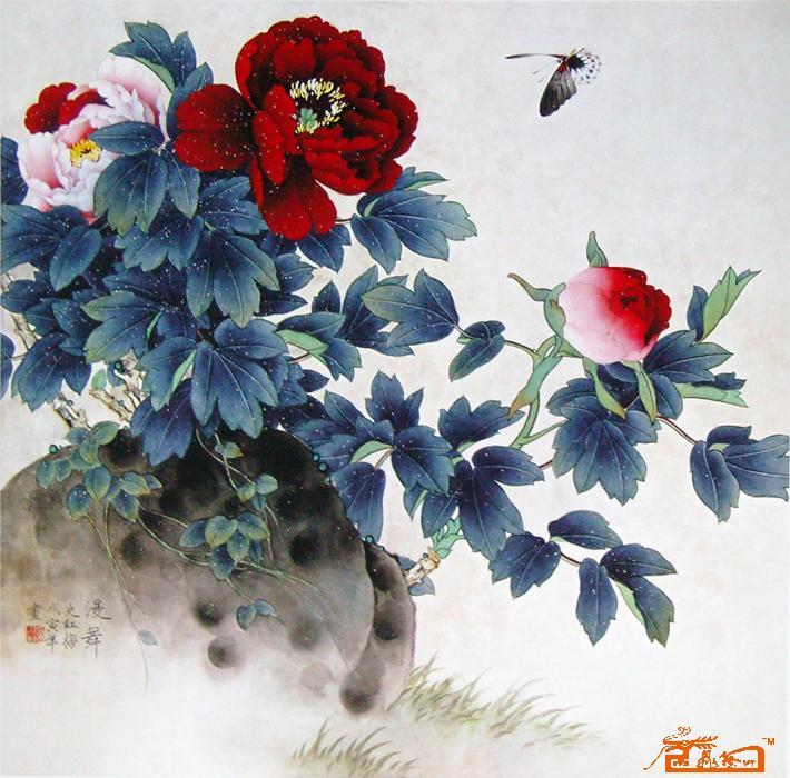 牡丹花中国画
